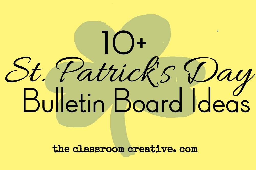 medium resolution of St. Patrick's Day Bulletin Boards