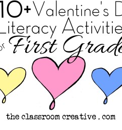 Valentine's Day Literacy Activities for First Grade [ 3408 x 4815 Pixel ]