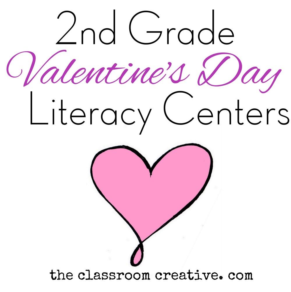 medium resolution of Second Grade Literacy Valentine's Day Centers \u0026 Resources