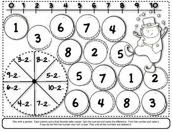 St. Patrick's Day Math Ideas for Kindergarten