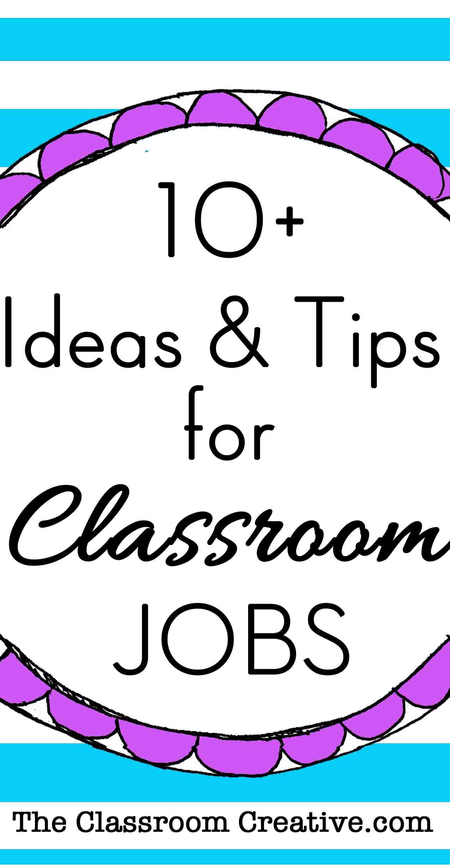 Classroom Jobs Chart Tips Amp Ideas