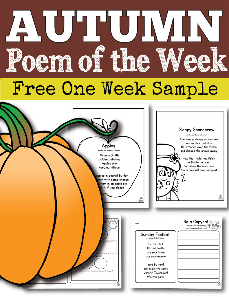 hight resolution of Poem of the Week for the Whole School Year for Kindergarten