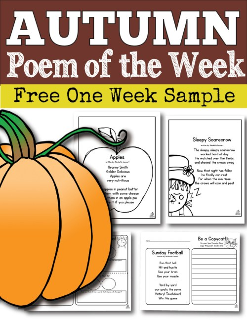 small resolution of Poem of the Week for the Whole School Year for Kindergarten