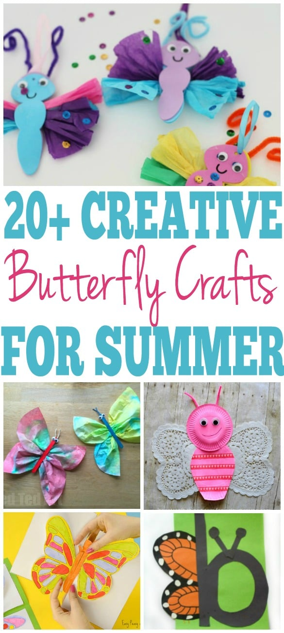 easy butterfly craft ideas