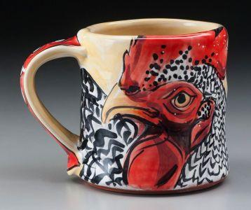"""Rooster Cup Left 5""""x4""""x4"""""""