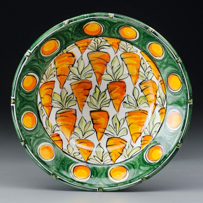 "Carrot Bowl Medium 10""x3.5"""