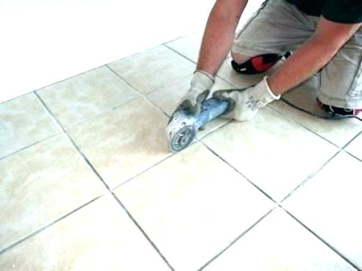 how to regrout floor tiles step by