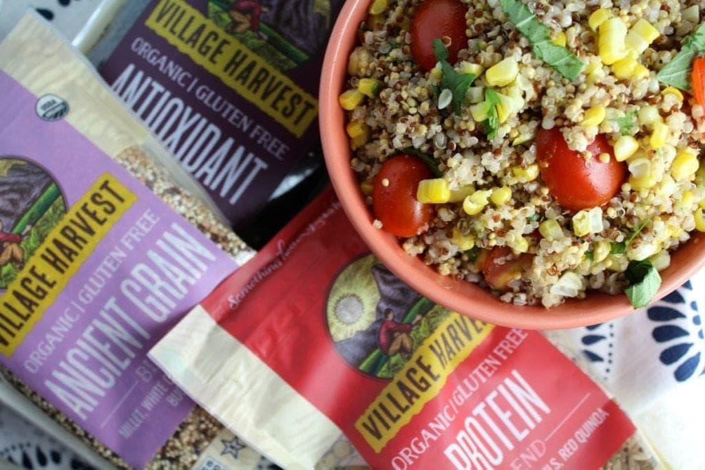 Healthy Basil Lime Quinoa Salad Recipe