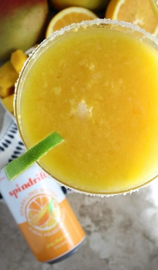 Healthy Orange Mango Frozen Margaritas
