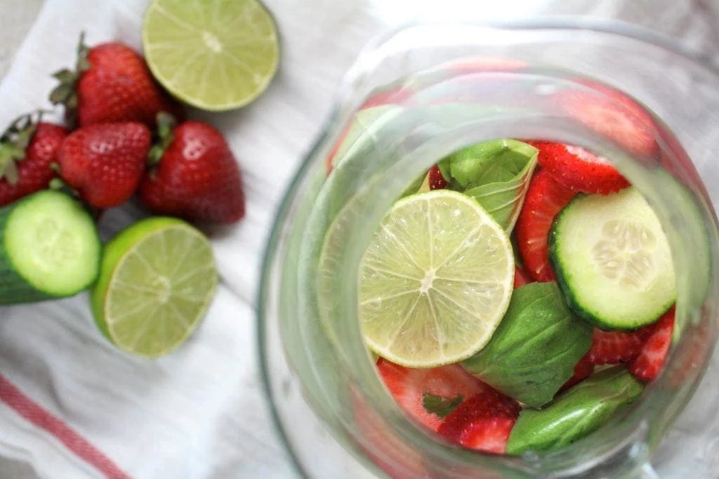 Strawberry Basil Lime Spa Water Recipe