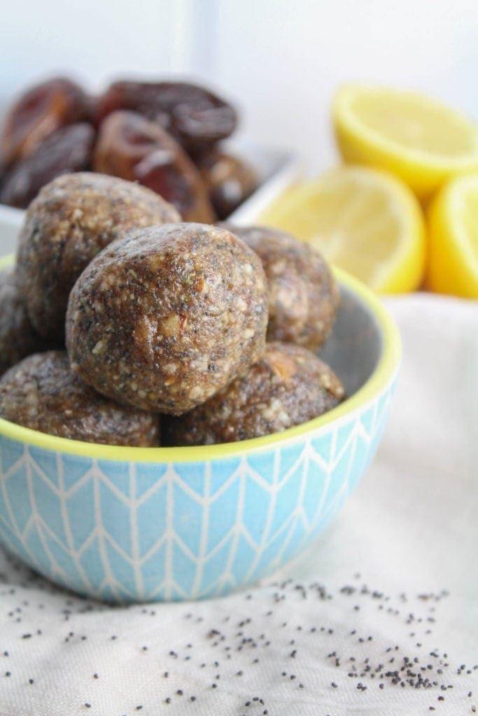 Whole 30 Lemon Poppy Seed Energy Bites Recipe