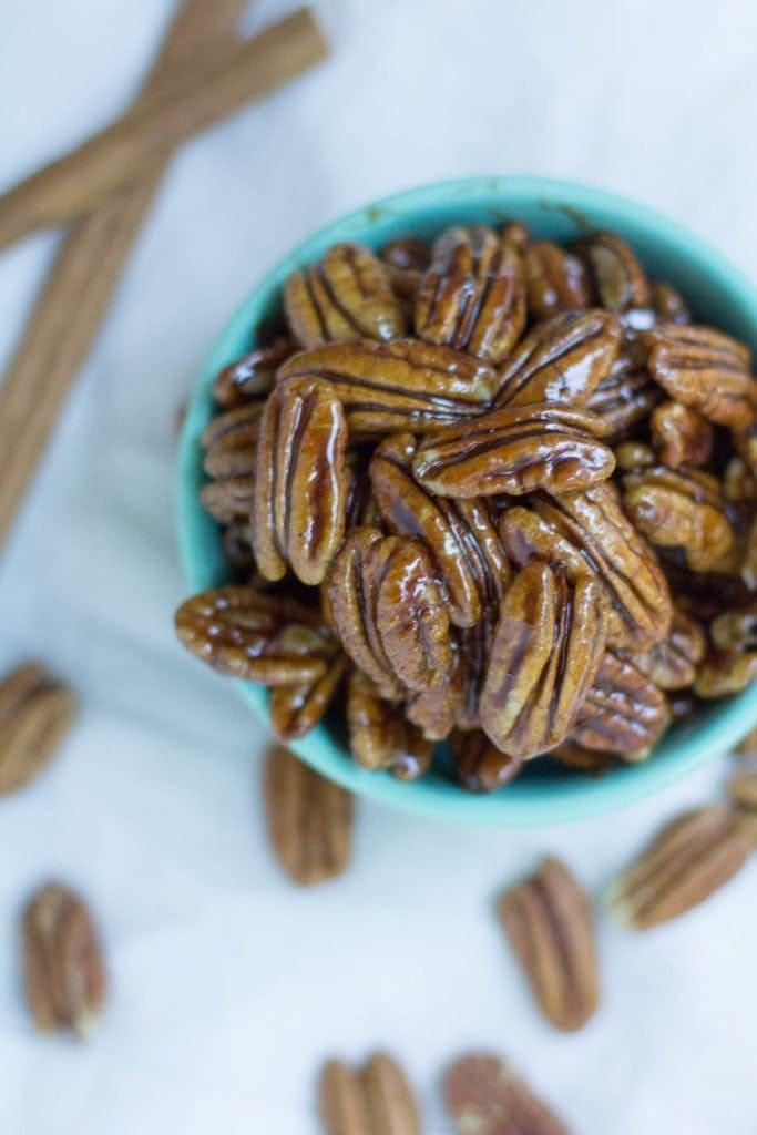 Paleo Maple Cinnamon Candied Pecans Recipe