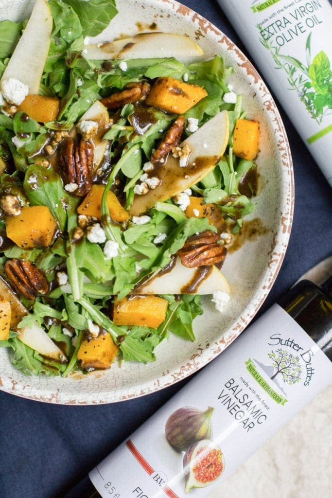 Fall Harvest Salad With Fig Balsamic Vinaigrette