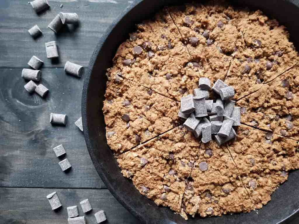 Paleo Chocolate Chip Skillet Cookie Image