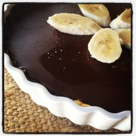 Chocolate Banana Cream Tart