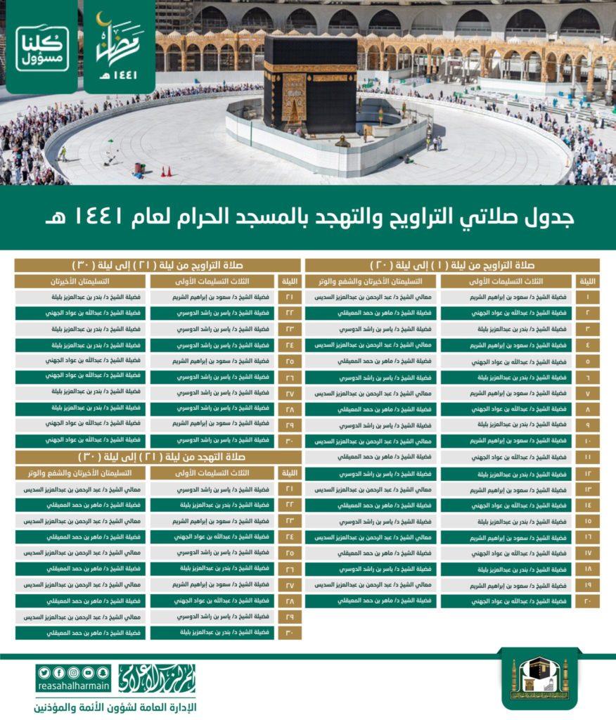 Taraweeh and Tahajjud Prayers in Masjid Al Haram, Makkah (Arabic)