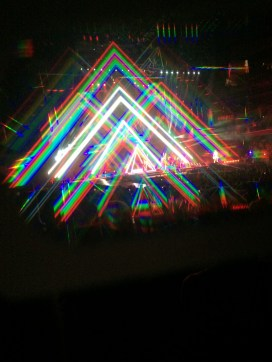 The stage through 3D glasses