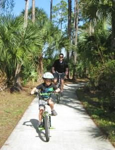 Ethan, Mike, bikes