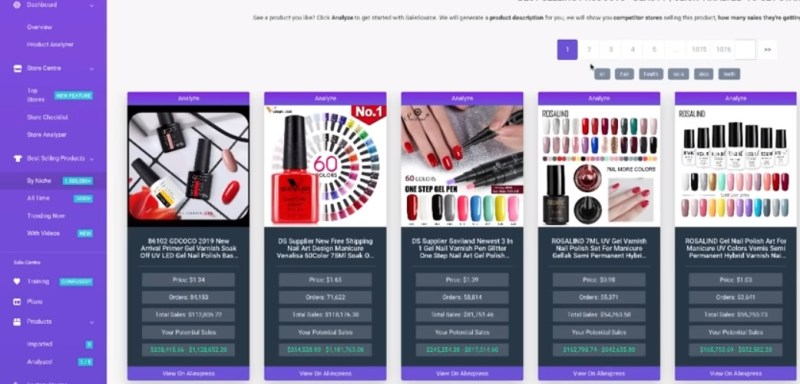 SaleSource product page
