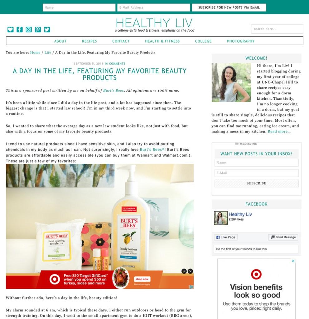 Sponsored blog post to make money