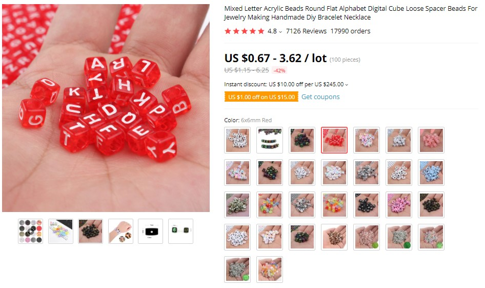 Beads For Jewelry Making For Necklaces & Bracelets on AliExpress