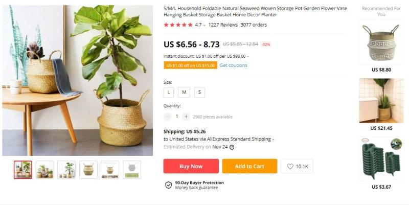 Natural Seaweed Flower Vase on AliExpress