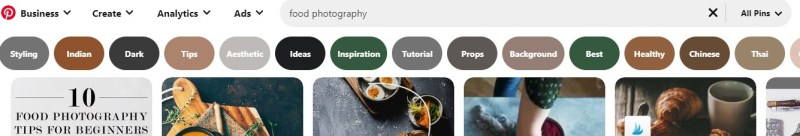 """Pinterest suggestions for """"food photography"""""""