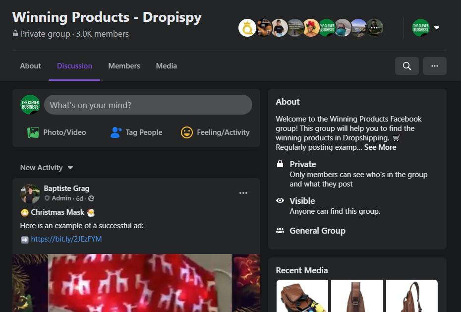Dropispy Facebook group