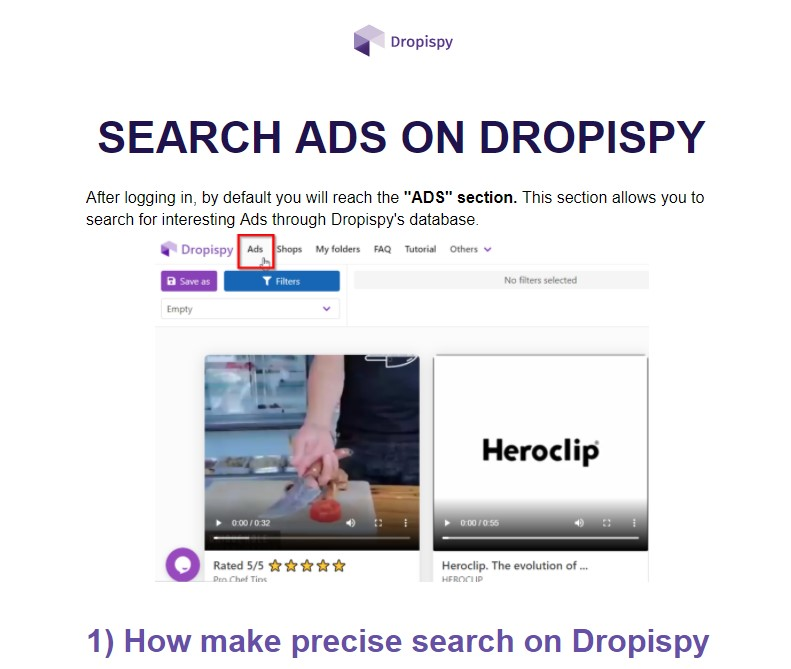 Dropispy tutorial document