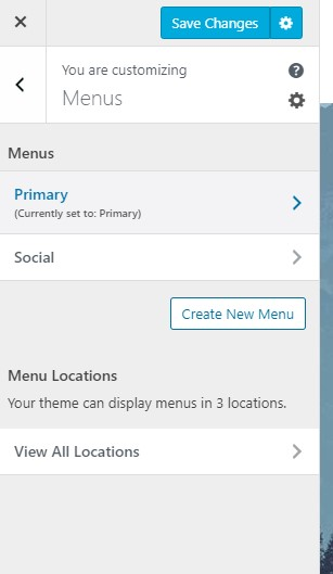 WordPress.com menu editor