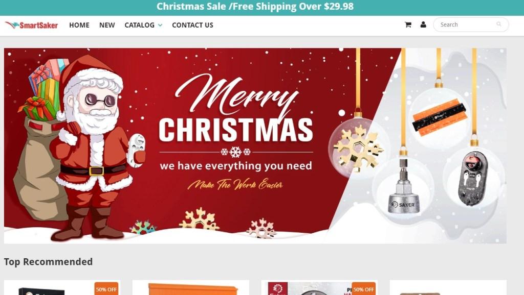 SmartSaker dropshipping store homepage