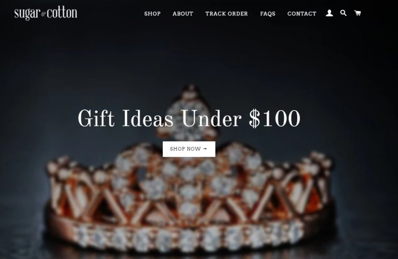 SugarAndCotton dropshipping store homepage