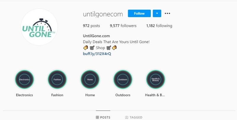 UntilGone Instagram profile