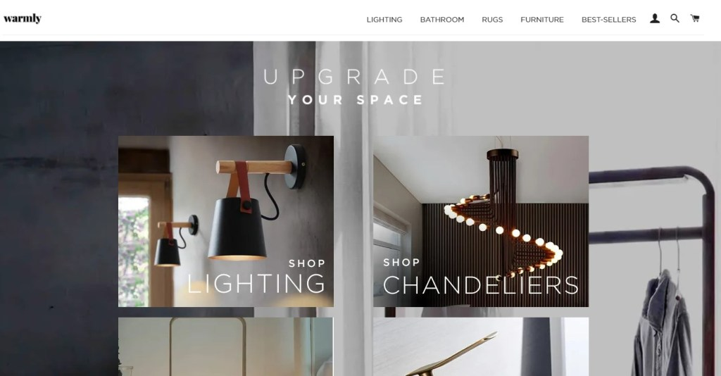 WarmlyDecor dropshipping store homepage