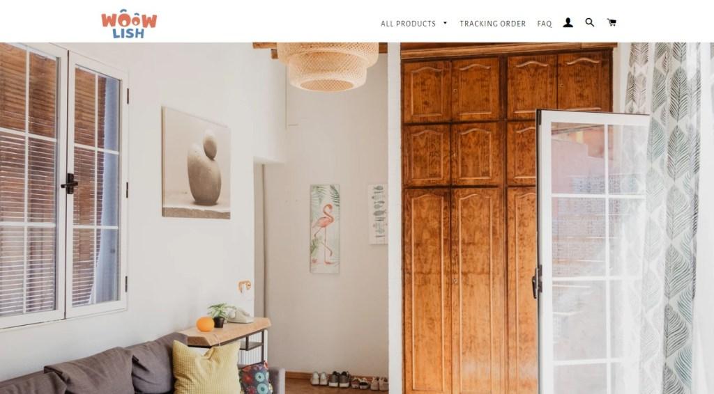 WoowLish dropshipping store homepage