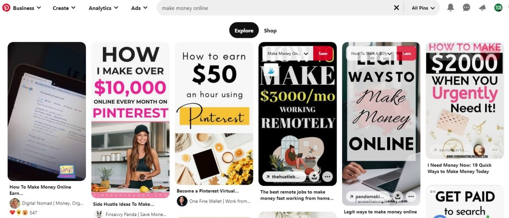 """Pinterest search results for """"make money online"""""""