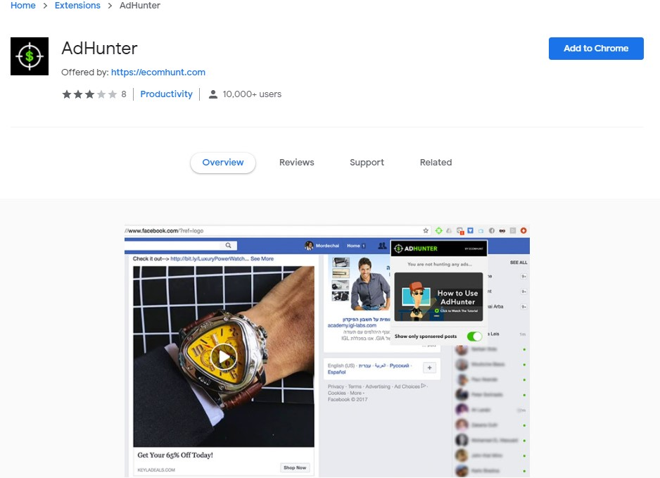Ecomhunt Chrome Extension