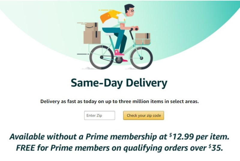 Amazon same-day delivery to strengthen the hyperbolic discounting effect