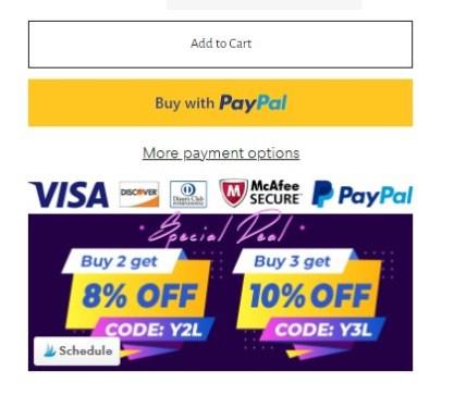 Credit card logos to increase conversion rate