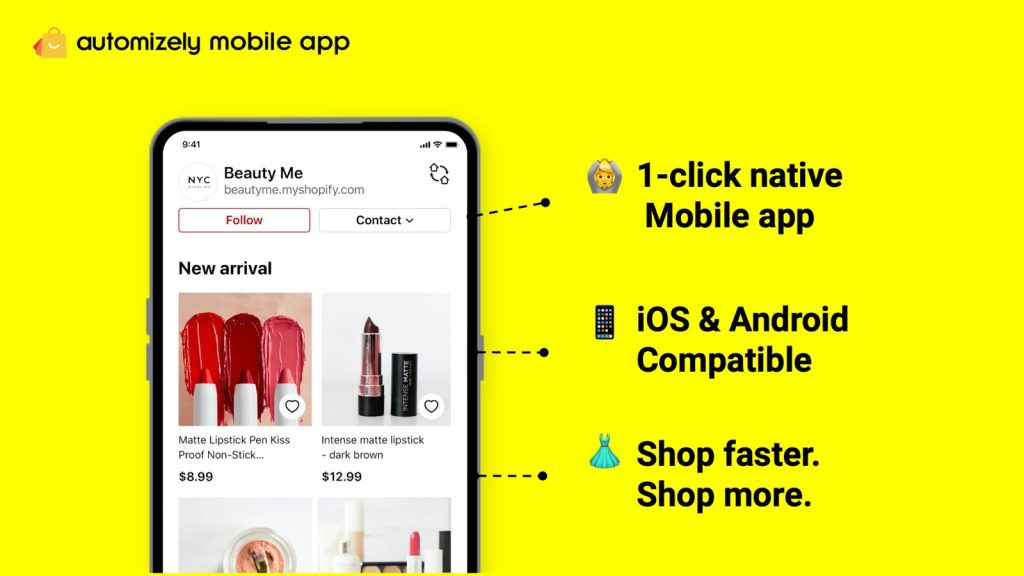 Automizely Mobile App Builder free Shopify app
