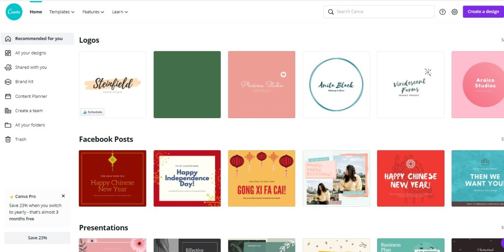 Canva for designing product graphics