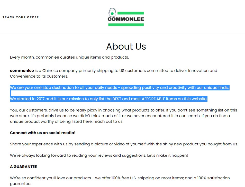 CommonLee about dropshipping