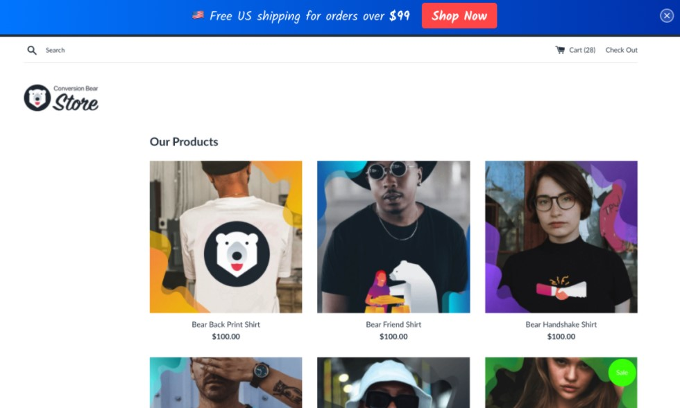 Ultimate free shipping bar Shopify app