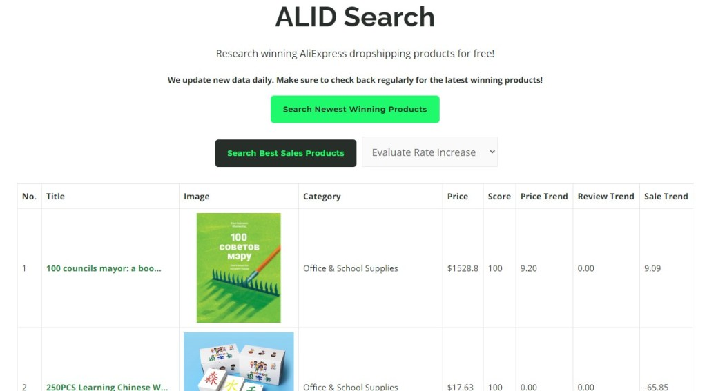 ALID search dropshipping product search tool