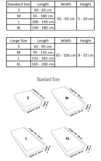 WonderCover measurement size guides