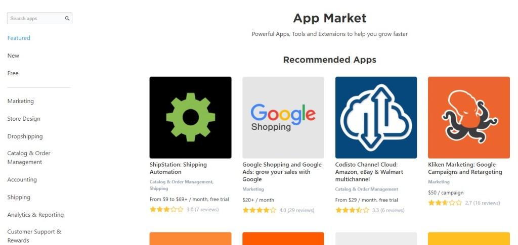 Ecwid app market