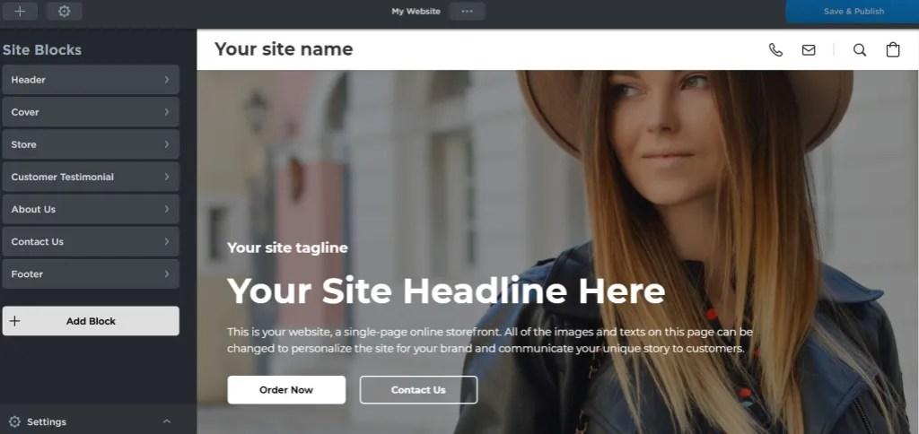 Ecwid instant site builder