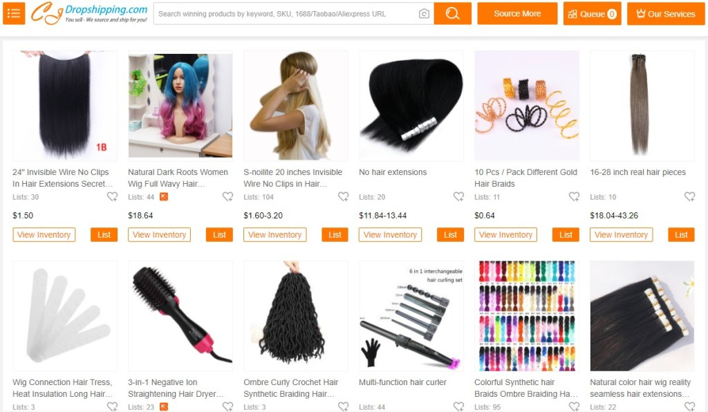 Hair extension dropshipping products on CJDropshipping