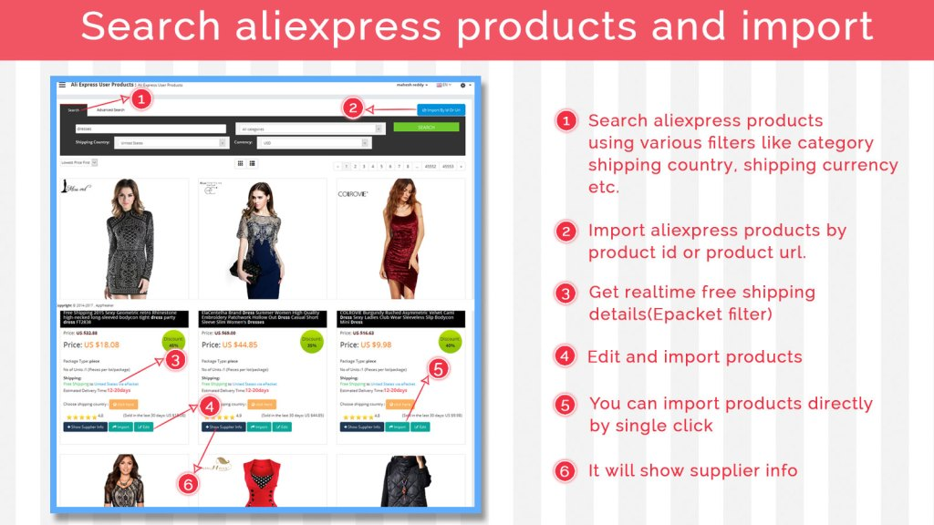 AliExpress dropshipping and more features