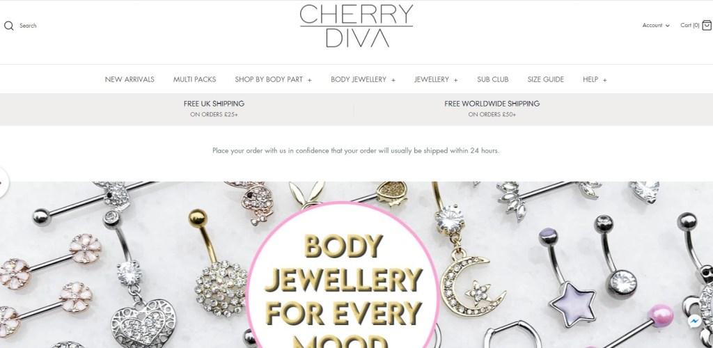 Cherry Diva Jewelry dropshipping store